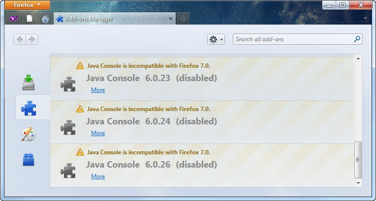 Java Consoles in Firefox