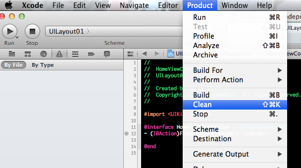 xcode-product-clean