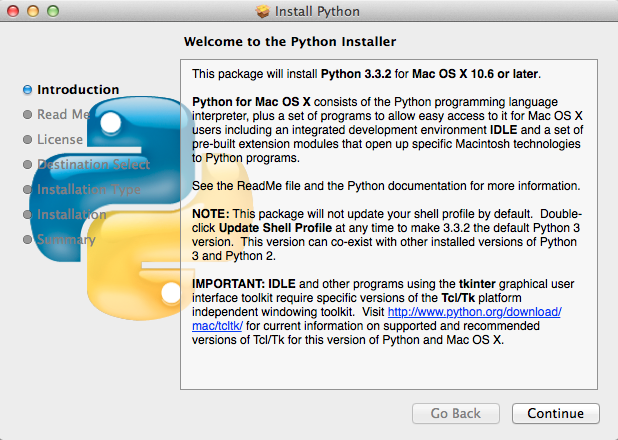 Python Installer on Mac