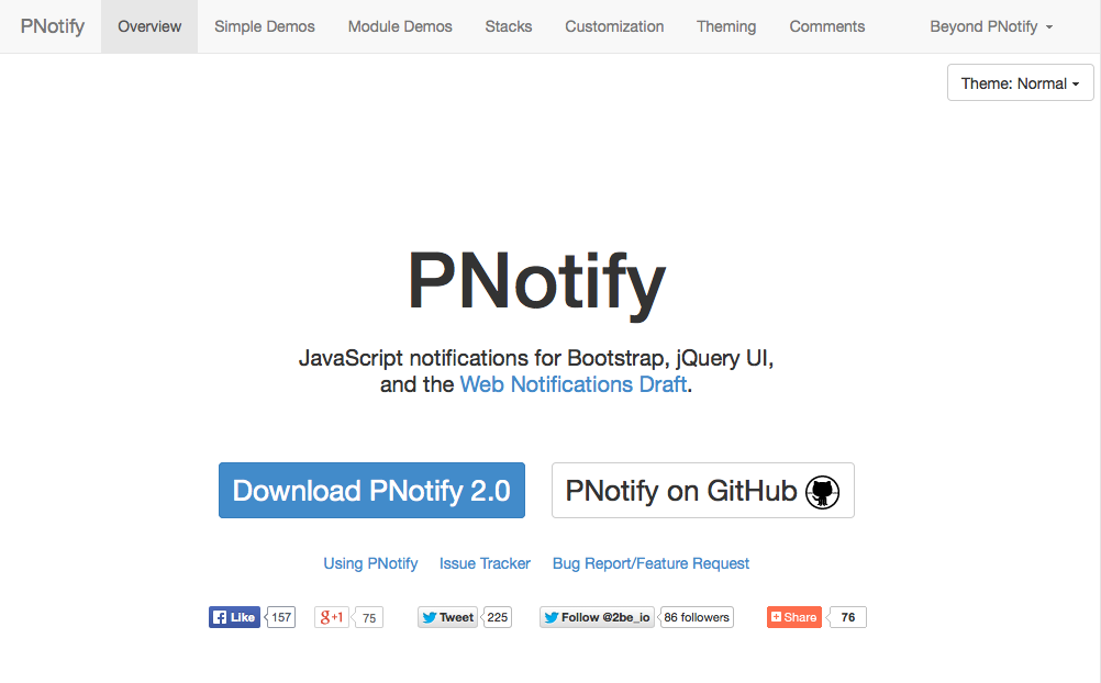 PNotify website